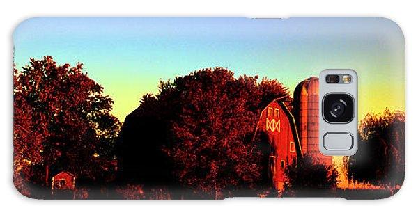 Huntley Road Barn Sunrise  Galaxy Case