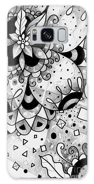 Organic Abstraction Galaxy Case - Hurlyburly by Helena Tiainen