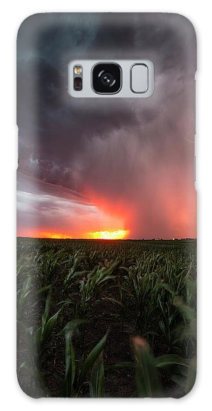 Galaxy Case featuring the photograph Huron Lightning  by Aaron J Groen