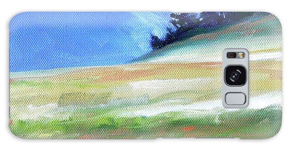 Galaxy Case featuring the painting Hurricane Ridge by Nancy Merkle