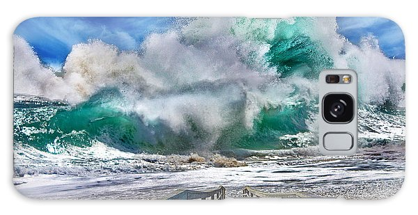 Hurricane Storm Waves Galaxy Case