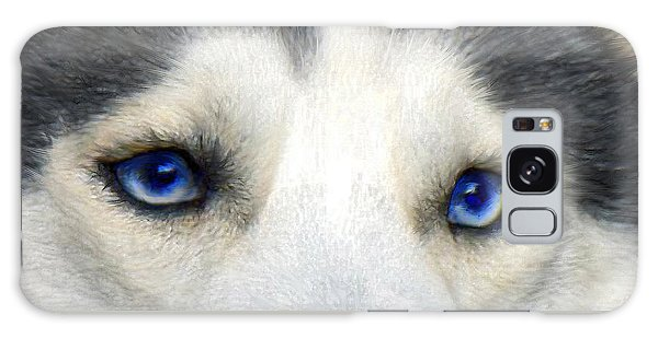 Husky Eyes Galaxy Case