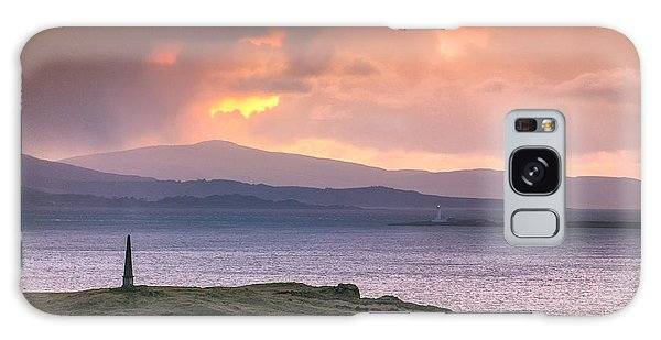 Hutcheson's Monument On The Isle Of Kerrera At Sunset Galaxy Case