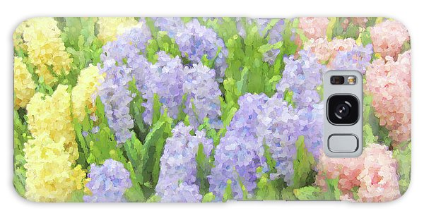 Galaxy Case featuring the photograph Hyacinth Flowers In The Spring Garden by Jennie Marie Schell