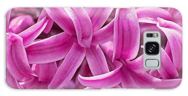 Hyacinth Pink Pearl Galaxy Case by Rona Black