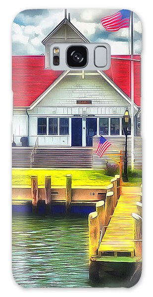 Hyannis The Coastguard Galaxy Case by Jack Torcello