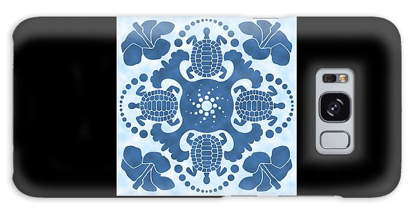 Hybiscus And Turtle Hawaiian Quilt Block Galaxy Case