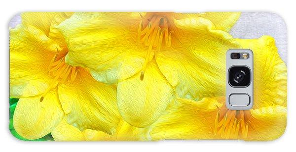 Hybrid Galaxy Case - Hybrid Daffodils by Laura D Young