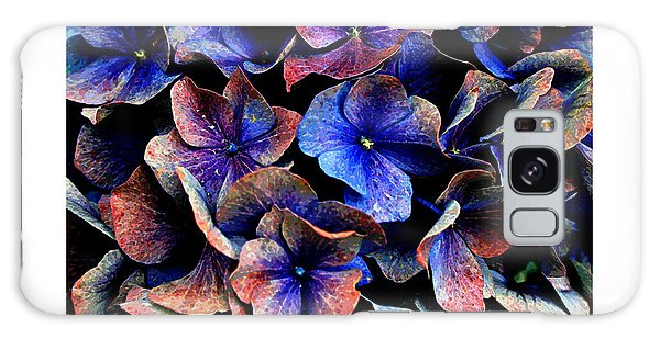 Galaxy Case featuring the digital art Hydranga Hues by Julian Perry