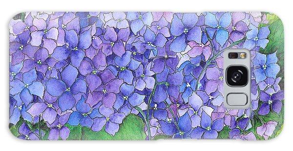 Hydrangea Purple Blue Galaxy Case