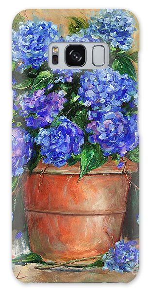 Hydrangeas In Pot Galaxy Case by Jennifer Beaudet