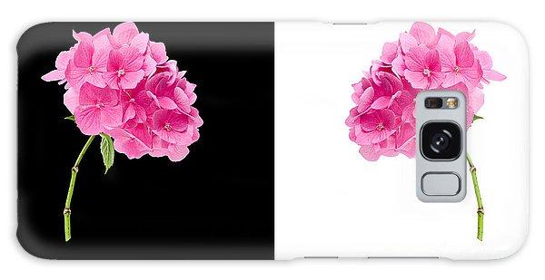 Hydrangeas On Black And White Galaxy Case