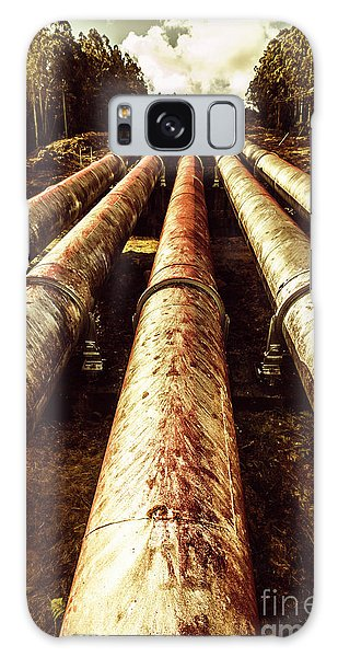 Industry Galaxy Case - Hydroelectric Pipeline by Jorgo Photography - Wall Art Gallery