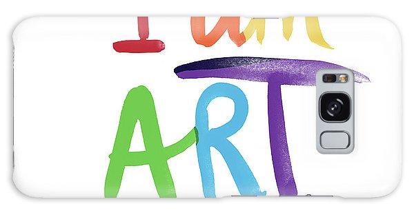 Rainbow Galaxy Case - I Am Art Rainbow Script- Art By Linda Woods by Linda Woods