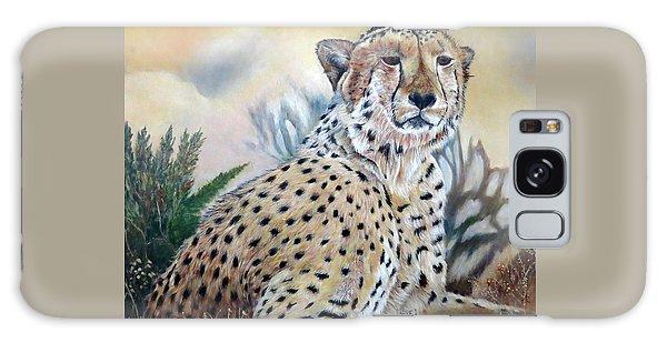 I Am Cheetah 2 Galaxy Case by Marilyn  McNish