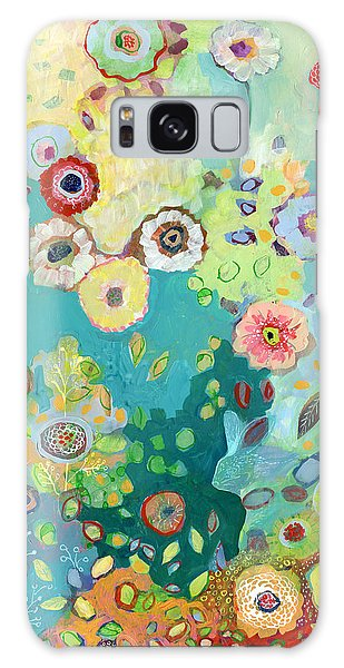 Floral Garden Galaxy Case - I Am by Jennifer Lommers