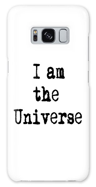 I Am The Universe Quote Prints, All Is One, Art Print Posters, Crown Chakra Galaxy Case