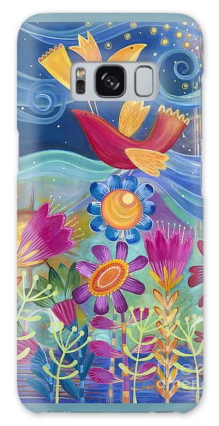 Galaxy Case featuring the painting I Believe I Can Fly by Carla Bank