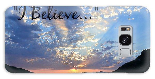 I Believe Galaxy Case by Sharon Soberon