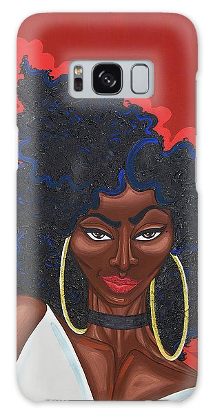 Galaxy Case featuring the painting I Can Make You Put Your Phone Down by Aliya Michelle