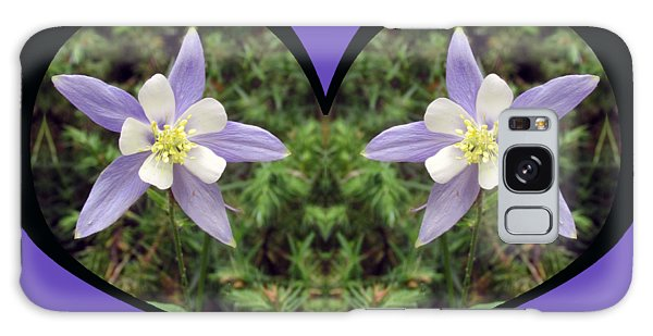 I Chose Love With A Heart Filled With Columbines Galaxy Case