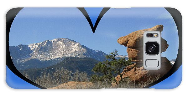 I Chose Love With A Joyful Dancer And Pikes Peak In A Heart Galaxy Case
