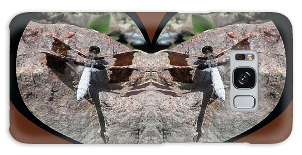 I Chose Love With Dragonflies On A Rock Galaxy Case