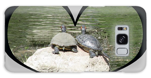 I Chose Love With Two Turtles Snuggling Galaxy Case