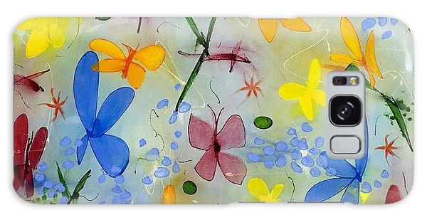 I Flit Through Life Three Galaxy Case by Lynne Taetzsch