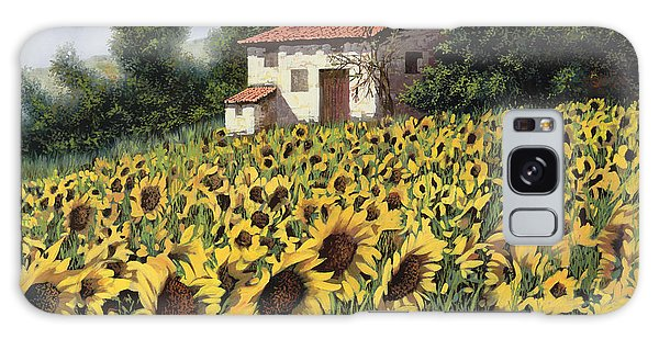 Sunflower Galaxy S8 Case - I Girasoli Nel Campo by Guido Borelli