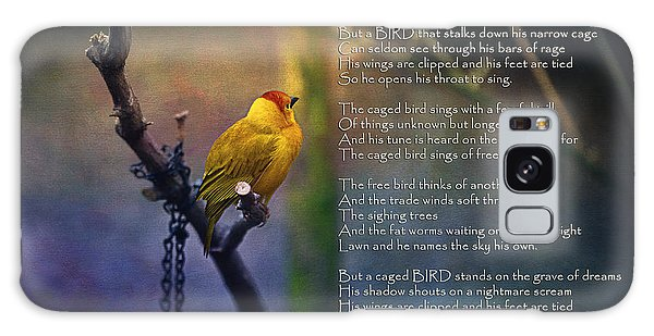 Song Birds Galaxy Case - I Know Why The Caged Bird Sings By Maya Angelou by Maria Angelica Maira