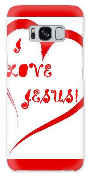 I Love Jesus Galaxy Case