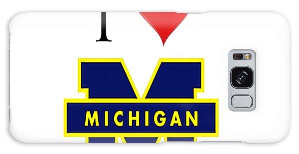 I Love Michigan Galaxy Case by Pat Cook
