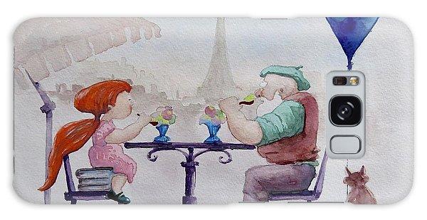 I Love Paris Grandpa Galaxy Case by Geni Gorani