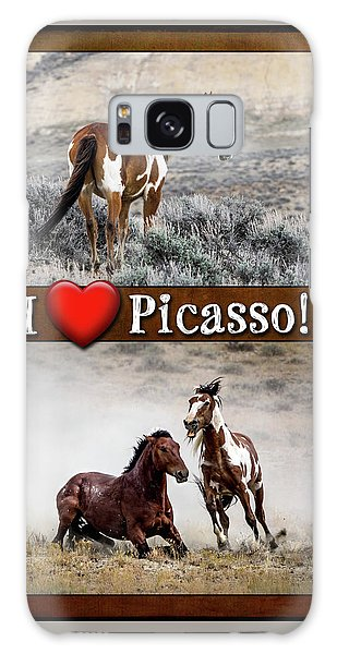 I Love Picasso Collage Galaxy Case