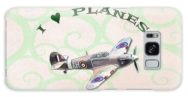 Galaxy Case featuring the digital art I Love Planes - Hurricane by Paul Gulliver