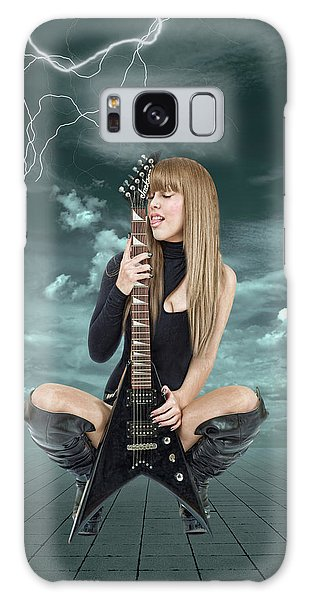 Rock And Roll Galaxy Case - I Love Rock And Roll by Smart Aviation