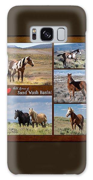 I Love Wild Horses Of Sand Wash Basin Galaxy Case