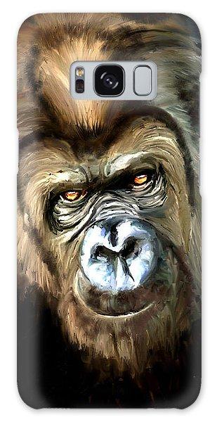 Gorilla Portrait Galaxy Case by James Shepherd