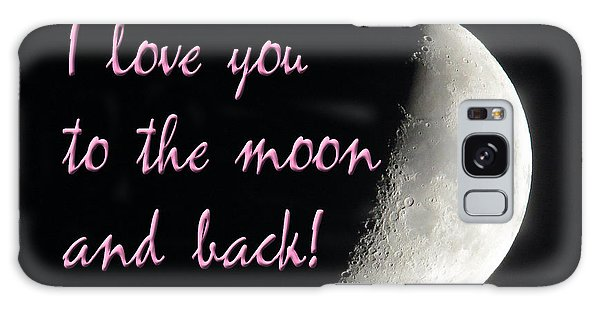 I Love You To The Moon Pink Galaxy Case