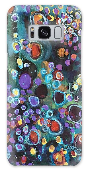 Galaxy Case featuring the painting I Need An Answer Please by Laurie Maves ART