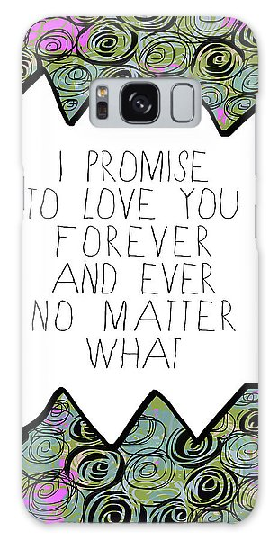 Galaxy Case featuring the painting I Promise by Lisa Weedn