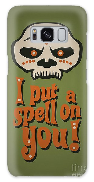 Fashion Plate Galaxy Case - I Put A Spell On You Voodoo Retro Poster by Monkey Crisis On Mars