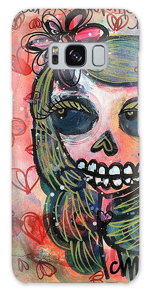 Galaxy Case featuring the painting I Would Like You To Love Me by Laurie Maves ART