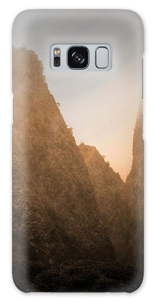 Iao Needle In Sepia Galaxy Case