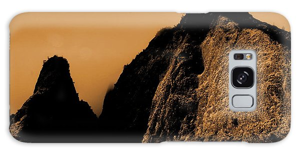 Iao Needle Silhouette Galaxy Case