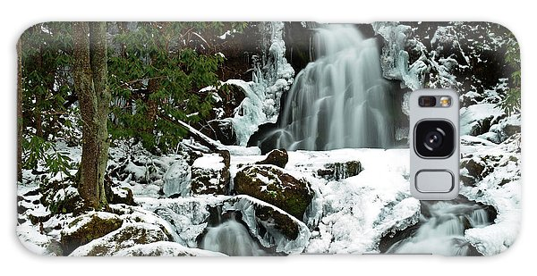Ice And Snow, Mouse Creek Falls, Great Smoky Mountain National Park Galaxy Case