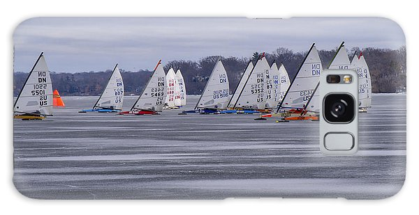 Ice Boat Racing - Madison - Wisconsin Galaxy Case