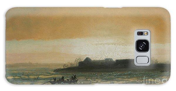 Breaking Dawn Galaxy Case - Ice Breaking Up by Albert Bierstadt