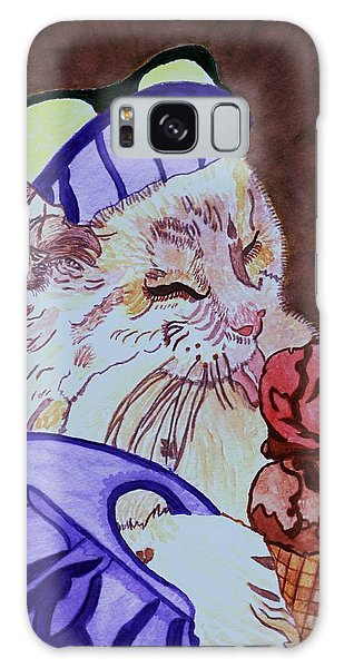Ice Cream Kitty Galaxy Case by Connie Valasco